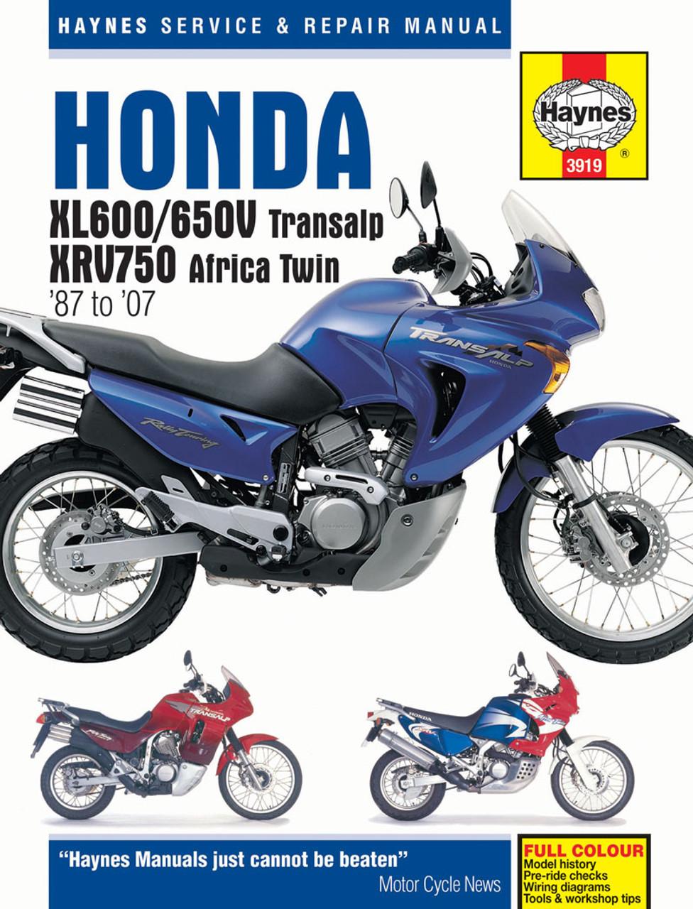 Honda Xl600650v Transalp Xrv750 Africa Twin 1987 2007 Haynes. Honda Xl600650v Transalp Xrv750 Africa Twin 1987 2007 Haynes Repair Manual. Honda. Wire Diagram 1985 Honda Xl600r At Scoala.co