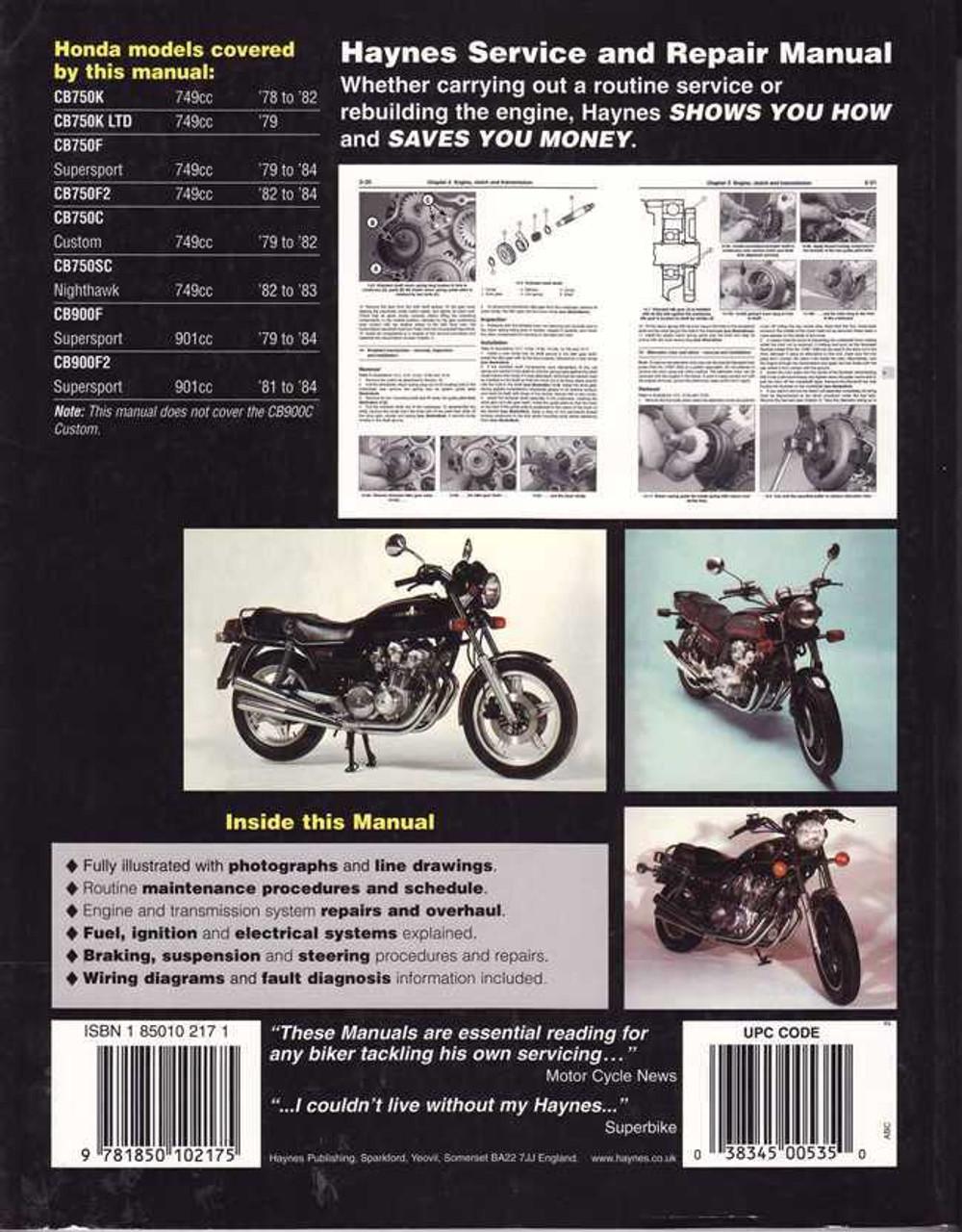 honda cb750 amp cb900 dohc fours 1978 1984 workshop manual rh automotobookshop com au