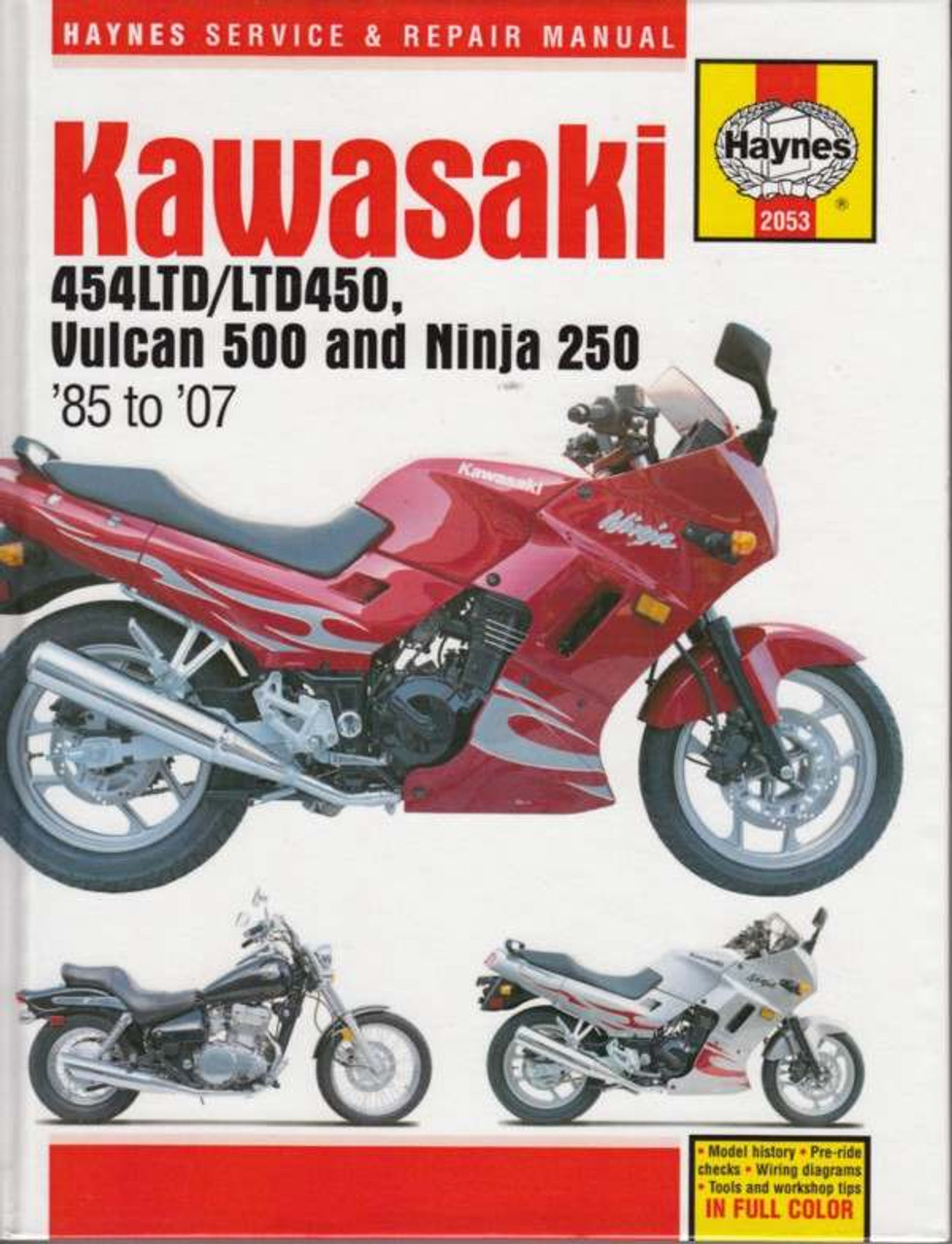 kawasaki 454ltd ltd450 vulcan 500 and ninja 250 1985. Black Bedroom Furniture Sets. Home Design Ideas
