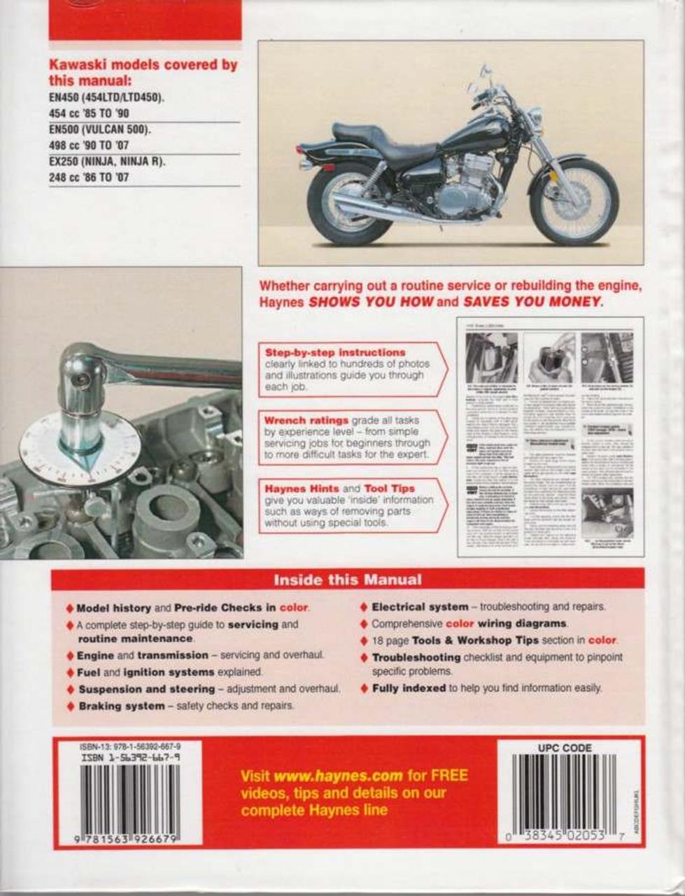 Kawasaki 454ltd  Ltd450  Vulcan 500 And Ninja 250 1985