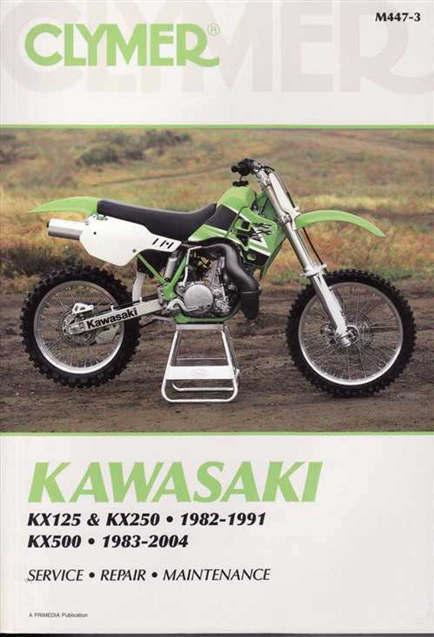 kawasaki kx125 kx250 amp kx500 1982 2004 workshop manual rh automotobookshop com au 1987 Kx 250 1992 KX 250