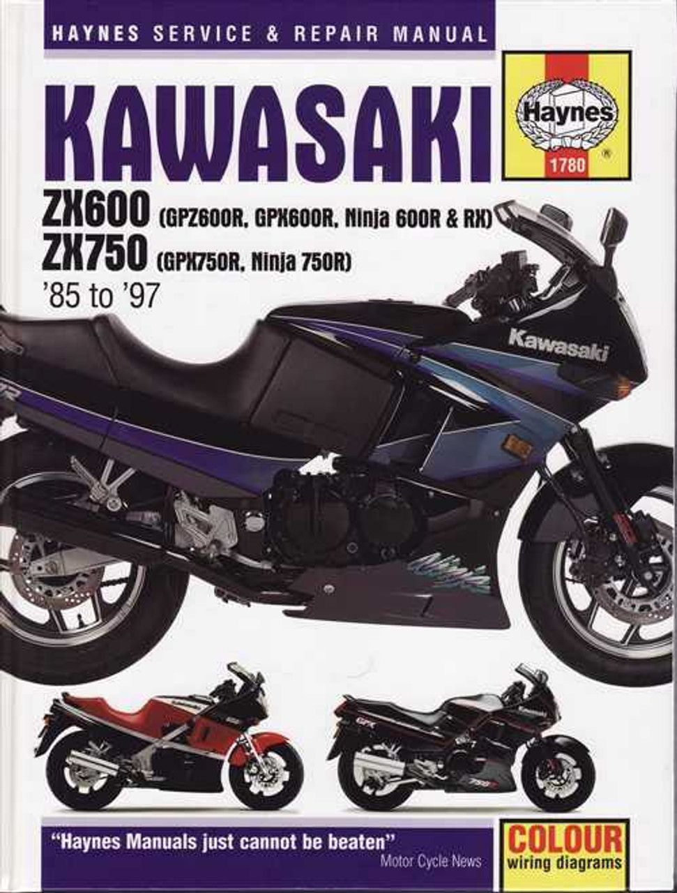 Kawasaki ZX600 ZX750 1985 1997 Workshop Manual