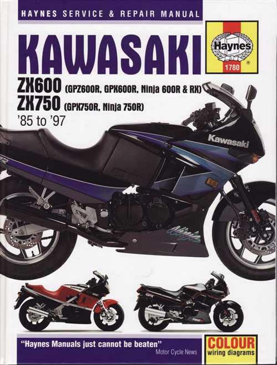 kawasaki zx600 zx750 1985 1997 workshop manual rh automotobookshop com au