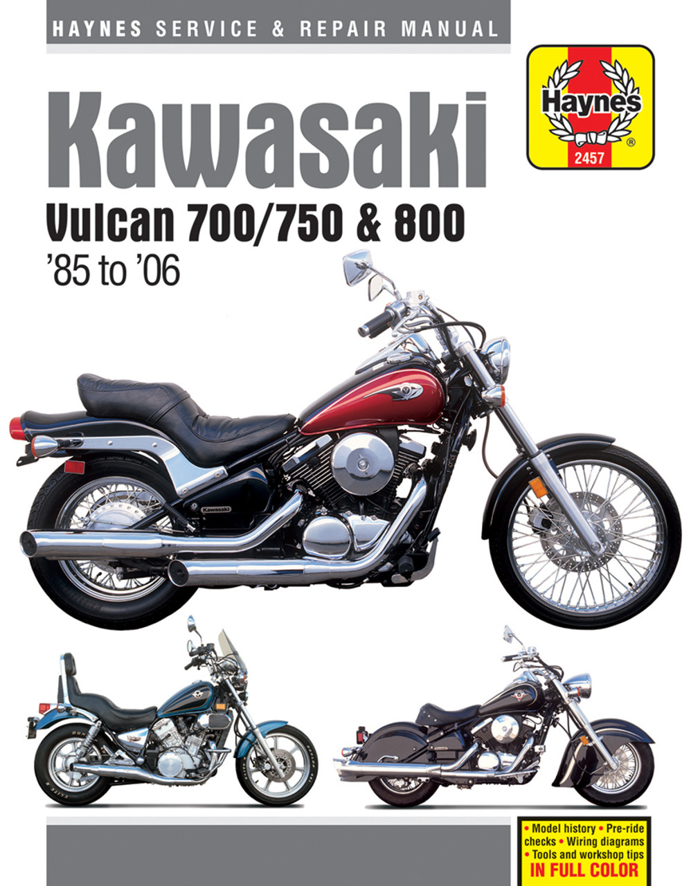 Kawasaki Vulcan 700 750 And 800 1985 2006 Workshop Manual 1978 Wiring Diagram 9781620922897