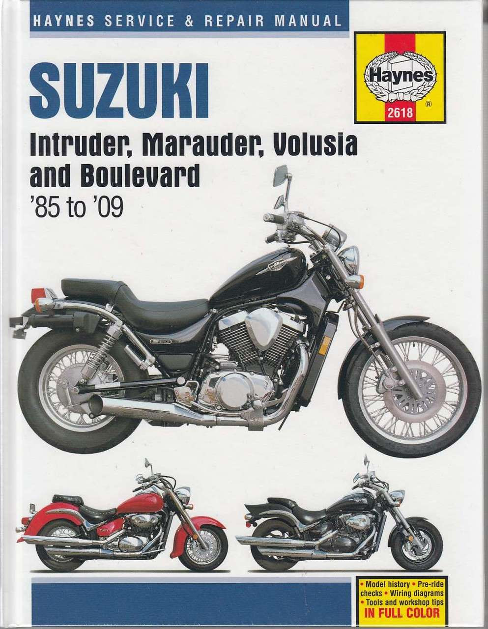 suzuki intruder marauder volusia and boulevard 1985 2009 rh automotobookshop com au suzuki marauder 800 service manual pdf suzuki marauder service manual download