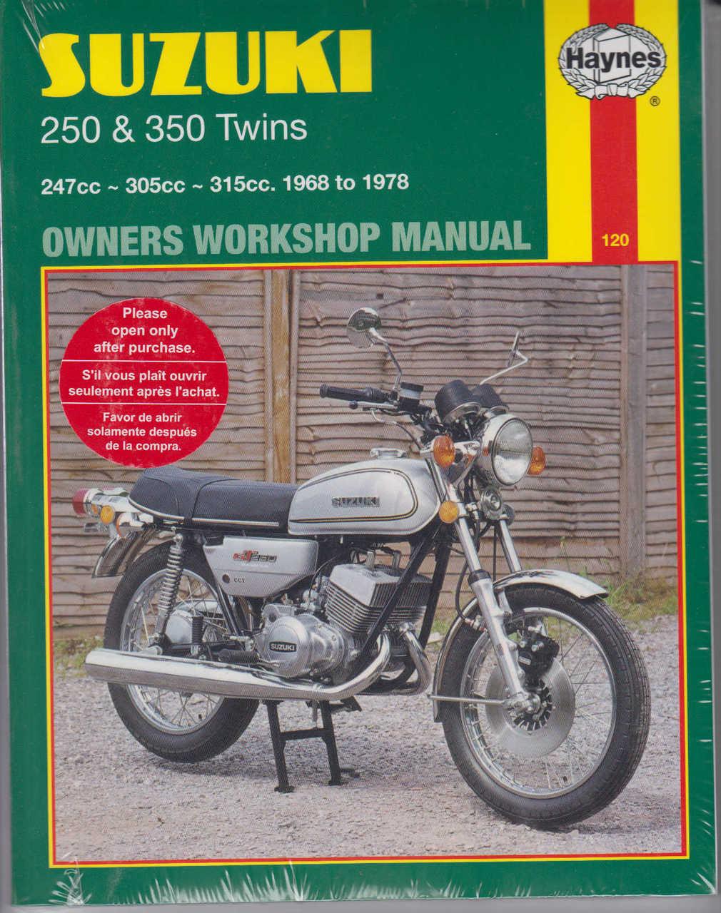 suzuki t250 gt250 t305 amp t350 twins 1968 1978 workshop manual rh automotobookshop com au suzuki gt 250 service manual pdf suzuki gt 250 repair manual