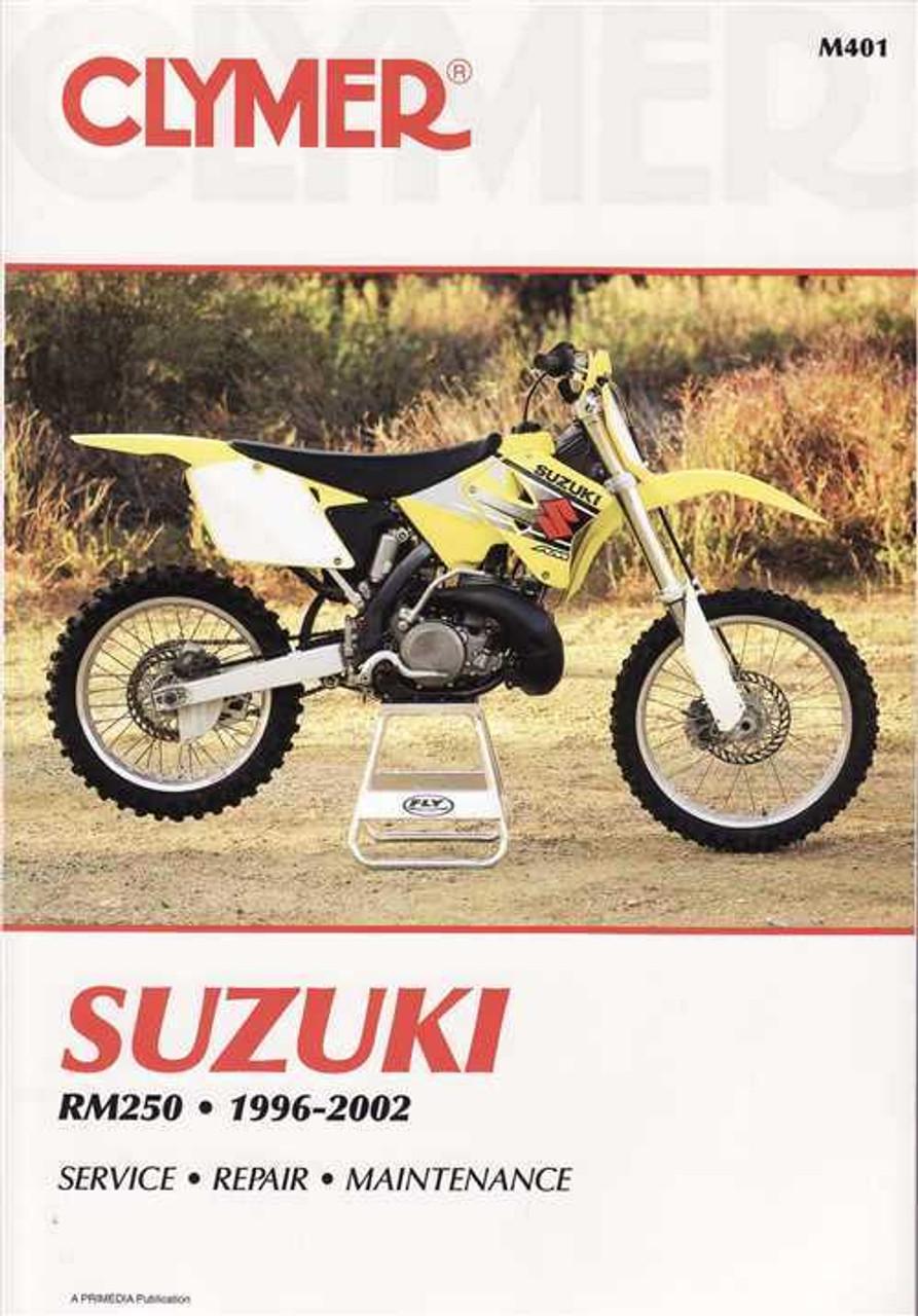 suzuki rm250 1996 2002 workshop manual rh automotobookshop com au 1998 suzuki rm 250 owners manual 1998 suzuki rm 250 repair manual