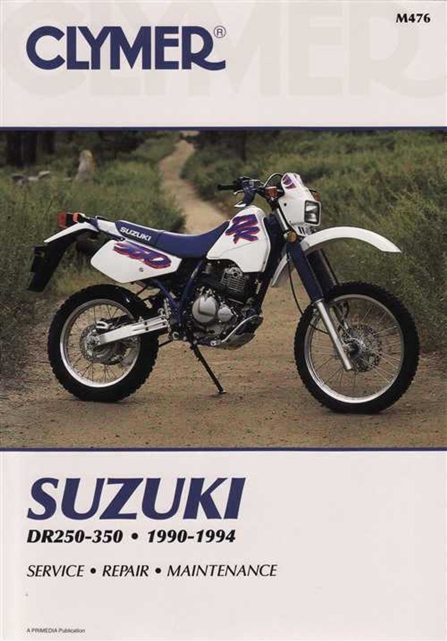suzuki dr250 dr250s dr350 dr350s 1990 1994 workshop manual rh automotobookshop com au suzuki dr 350 service manual suzuki dr 350 manual pdf