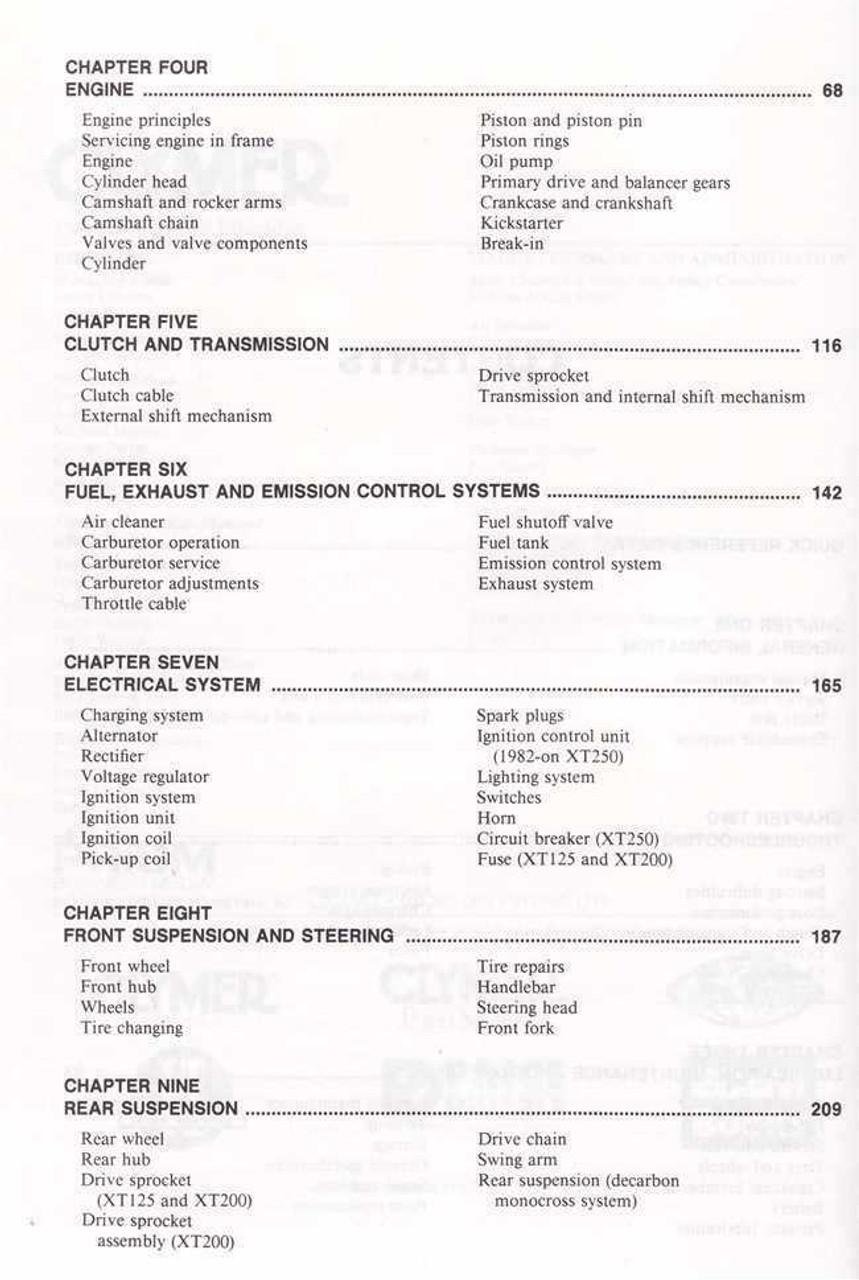 Yamaha xt600 1983 2003 service repair manual download array yamaha xt125 xt200 xt250 1980 1984 workshop manual rh automotobookshop com fandeluxe Images