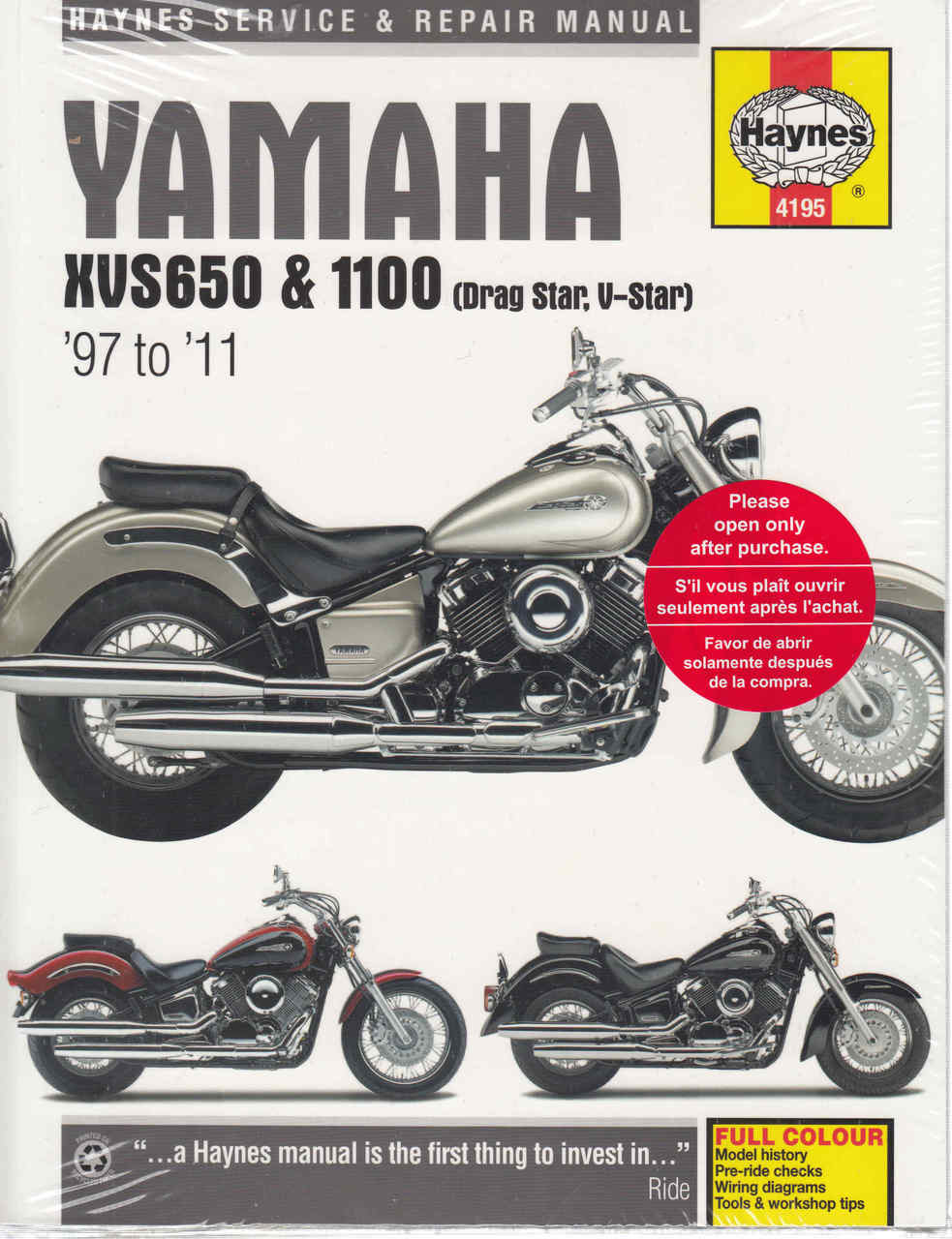 Yamaha Xvs650 Amp Xvs1100 Drag Star V 1997 2005 Workshop 1300 Wiring Diagram And 2011 Manual