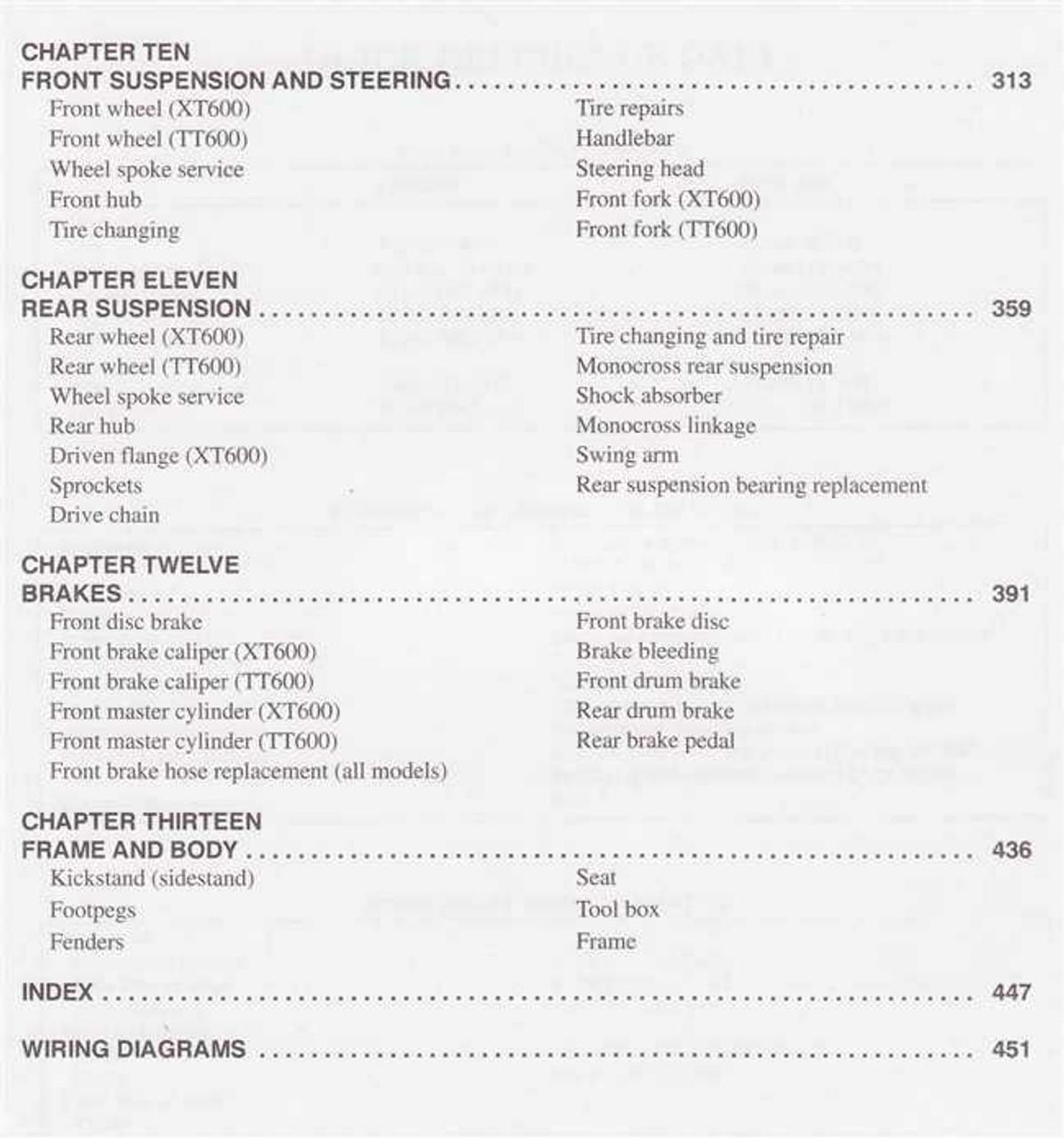 Yamaha Xt600 Tt600 1983 1989 Workshop Manual: Yamaha Tt600 Wiring Diagram At Eklablog.co