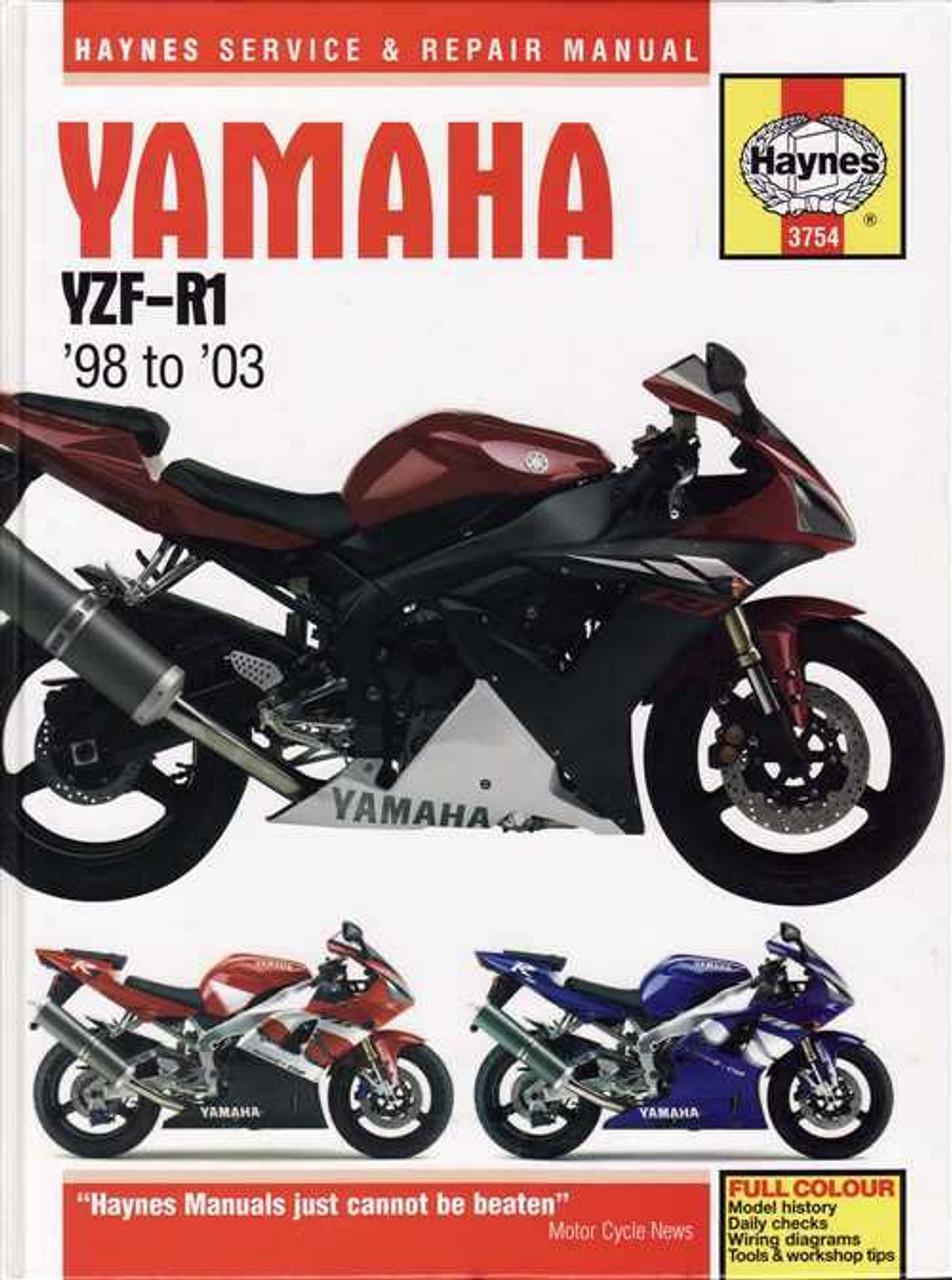 yamaha yzf r1 1998 2003 workshop manual rh automotobookshop com au 2001 yamaha r1 service manual pdf 2001 r1 service manual