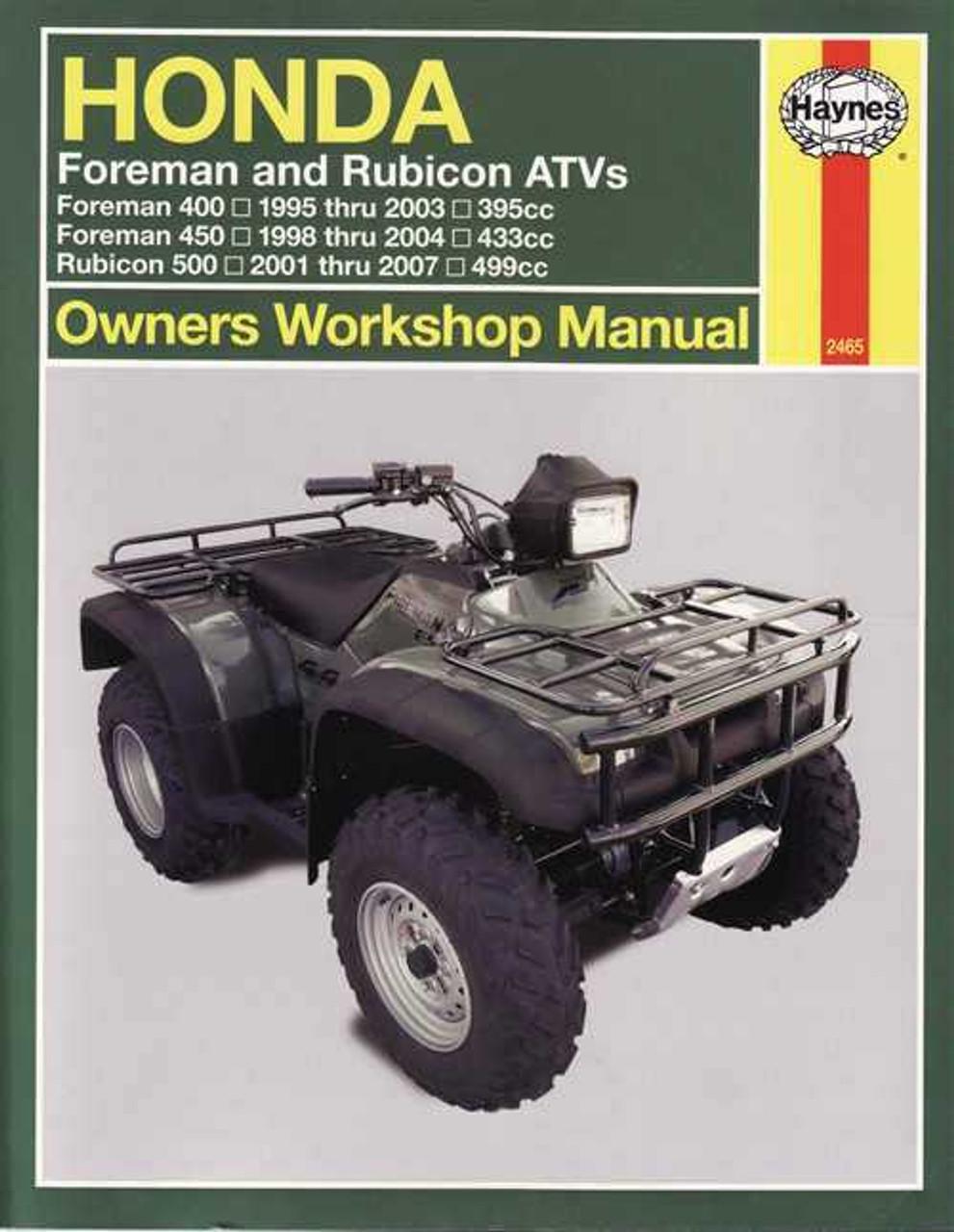 Honda Foreman 400  500  U0026 Rubicon 500 Atvs 1995