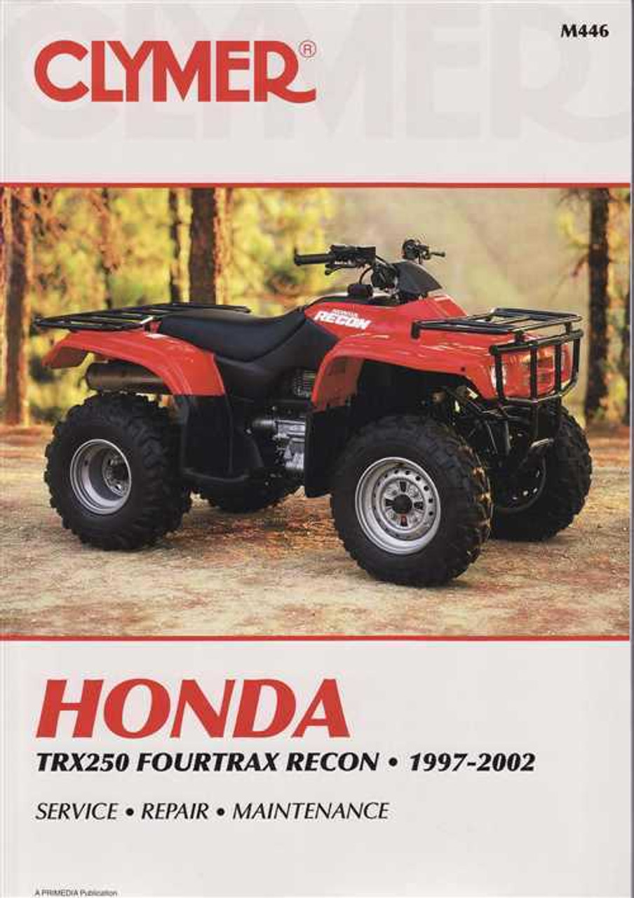 honda trx250 fourtrax recon atvs 1997 2002 workshop manual rh automotobookshop com au ATV Honda TRX 250 Recon Honda FourTrax 250