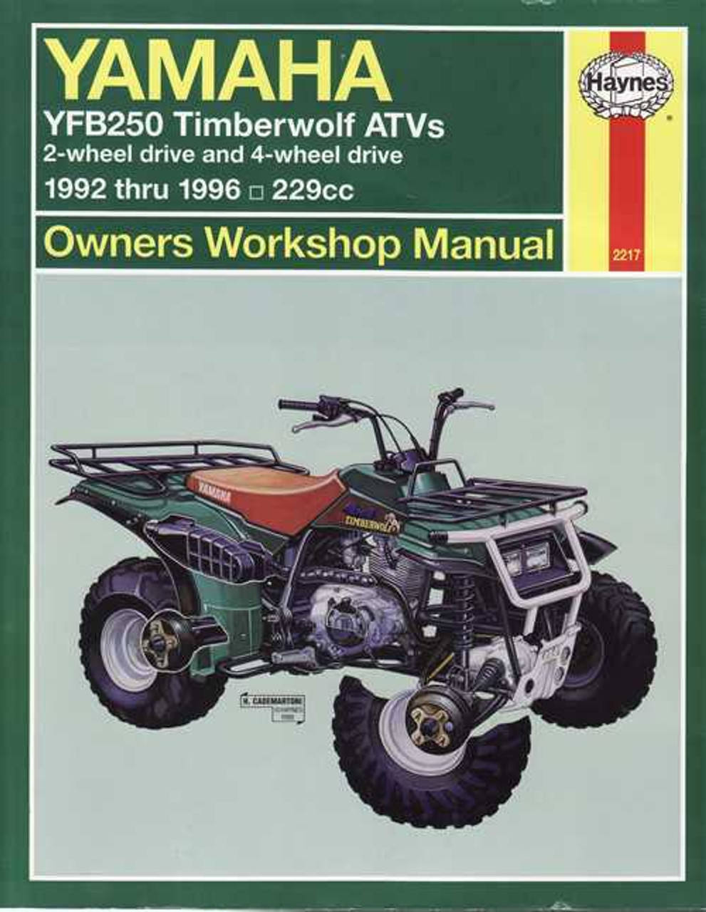 yamaha yfb250 timberwolf atvs 1992 - 1996 workshop manual 1996 buick roadmaster wiring diagram 1996 yfb250 timberwolf wiring diagram