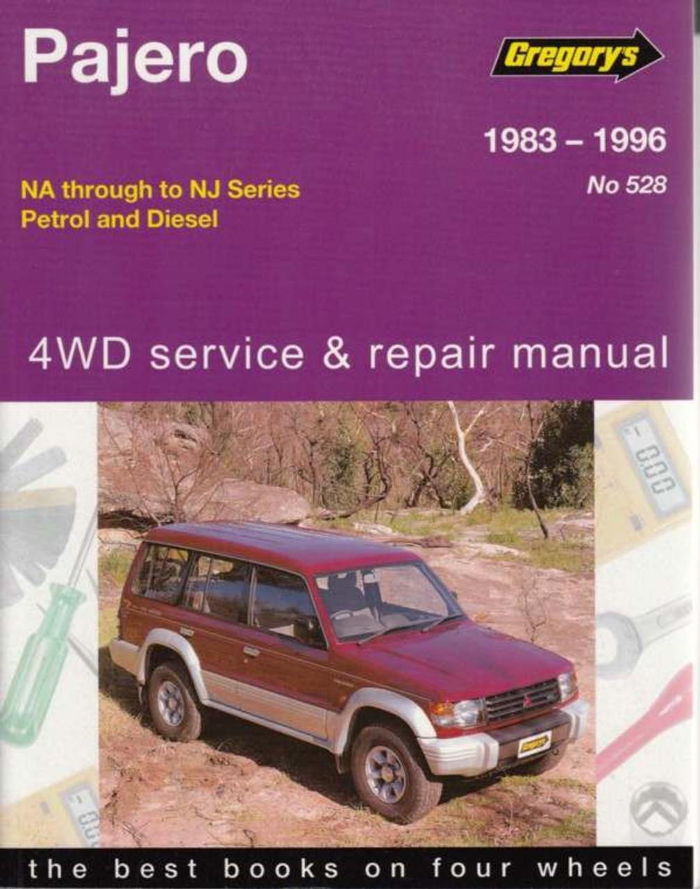 mitsubishi pajero nh through to nj petrol diesel 1983 1996 rh automotobookshop com au Mitsubishi Outlander Mitsubishi Pajero 2015