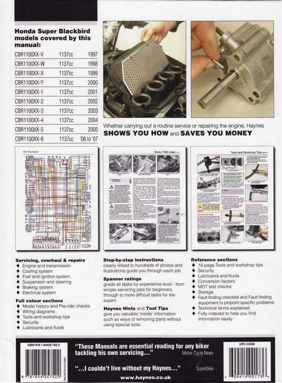 honda cbr1100xx super blackbird 1997 2007 workshop manual rh automotobookshop com au BMW S1000RR Kawasaki Ninja ZX-12R