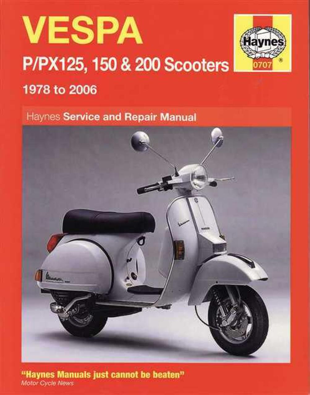 vespa p px125 150 amp 200 scooters 1978 2006 workshop manual rh automotobookshop com au vespa workshop manual vespa workshop manual