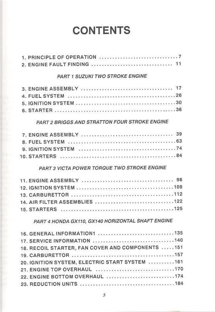 small engines series 2 workshop manual rh automotobookshop com au Honda Engines honda gxv160 workshop manual