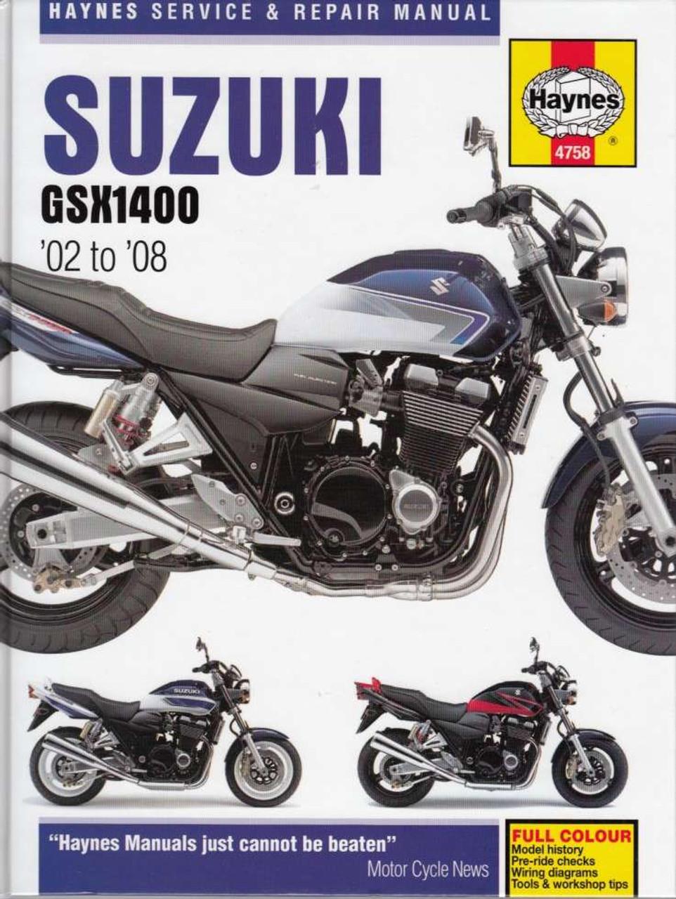 Suzuki Gsx1400 K2  K3  K4  K5  K6  K7 2002