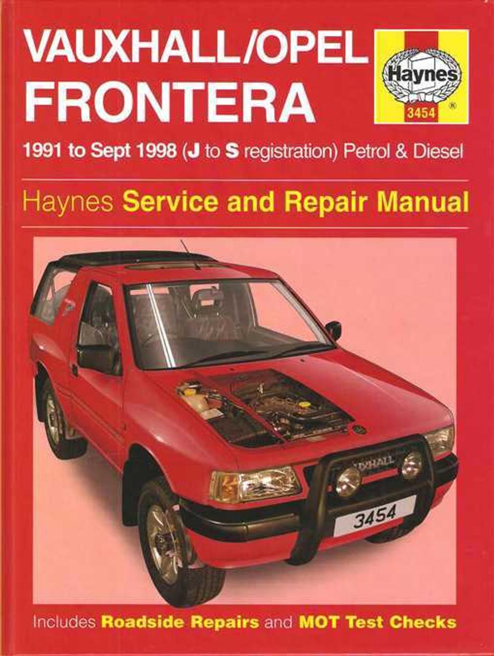 holden frontera petrol and diesel 1991 1998 workshop manual rh automotobookshop com au Polaris ATV Owners Manual Haynes Repair Manuals