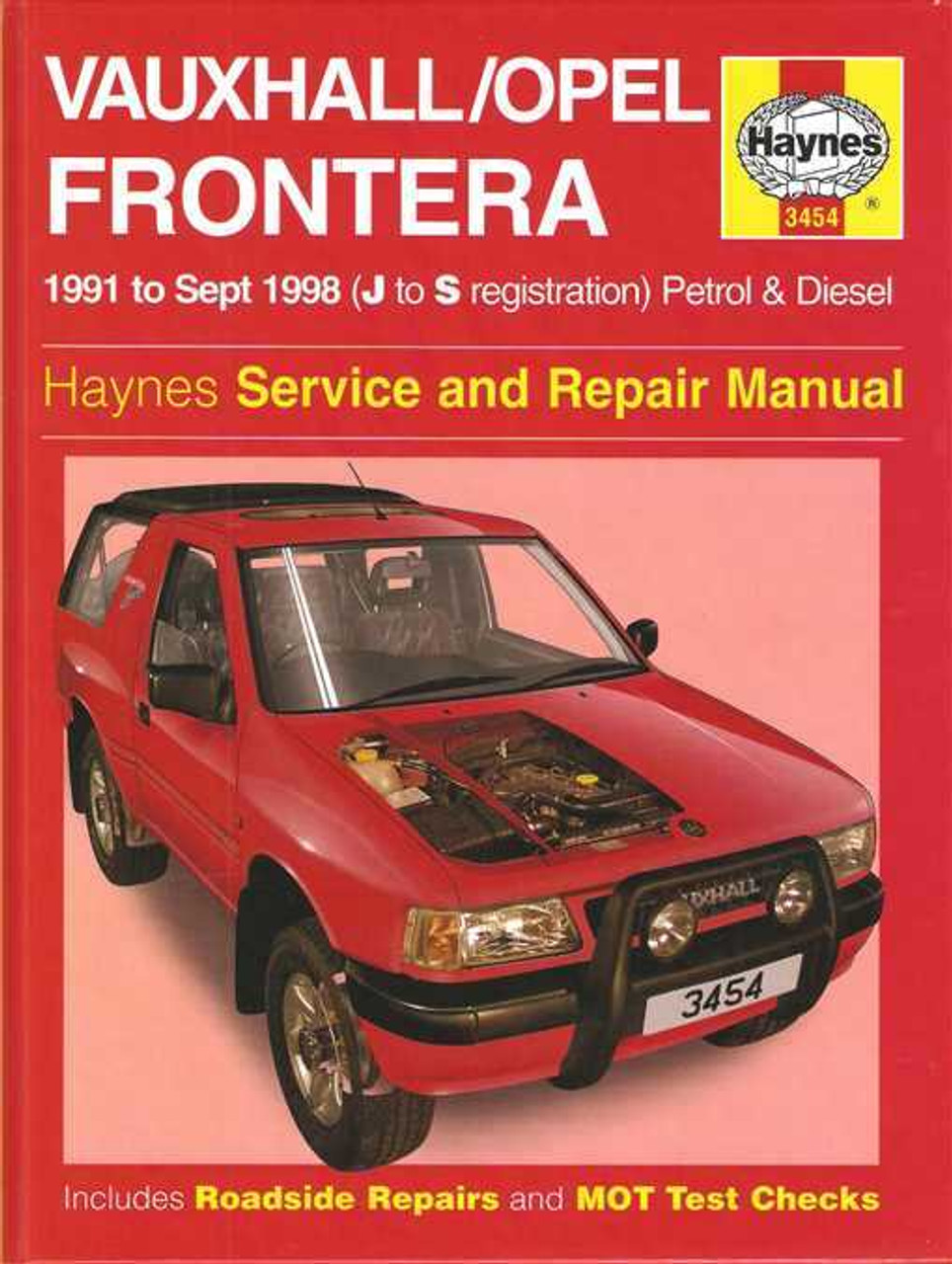 Holden frontera petrol and diesel 1991 1998 workshop manual fandeluxe Image collections