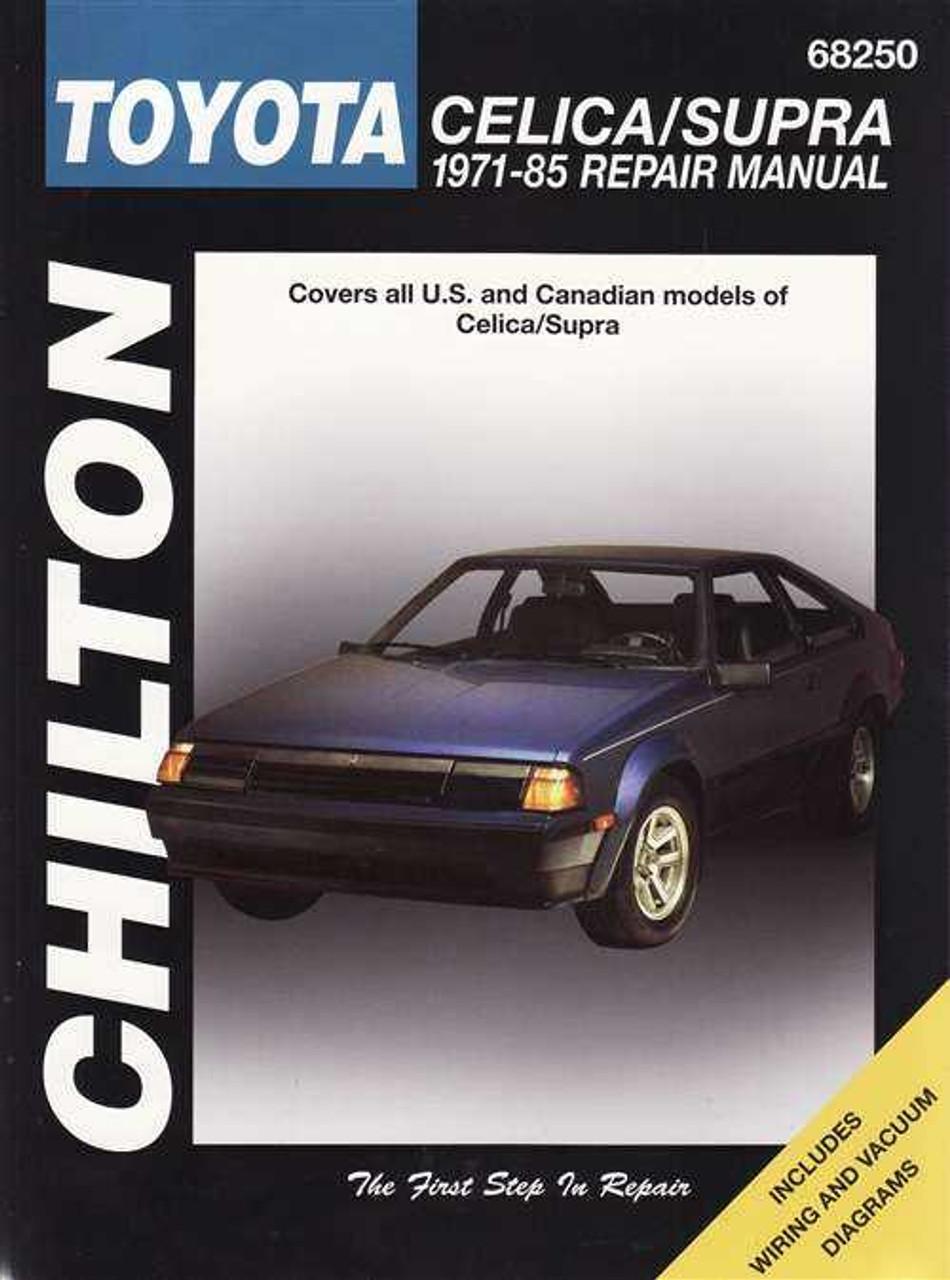 toyota celica supra 1971 1985 workshop manual rh automotobookshop com au 1992 toyota celica owners manual download 2001 Celica