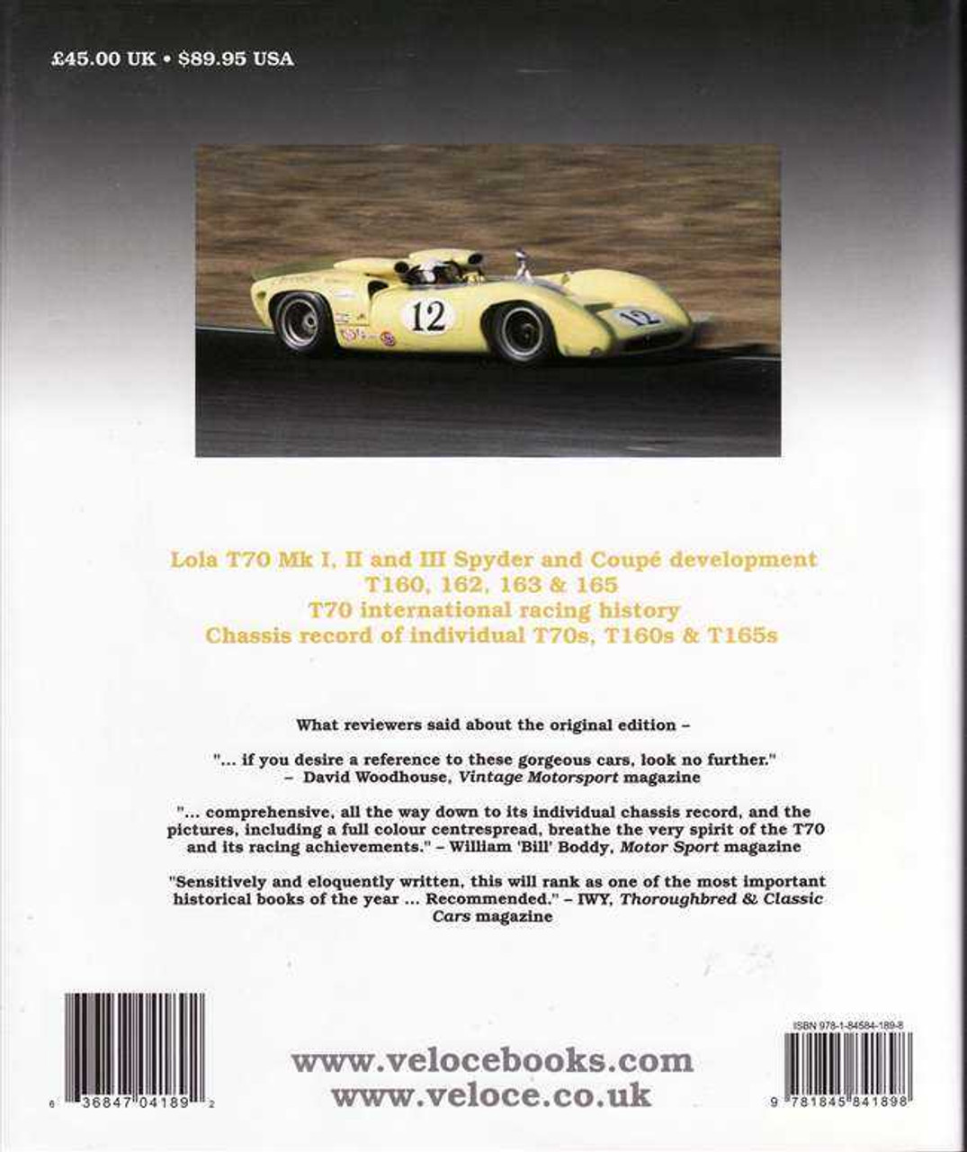 Lola T70: Revised 4th Edition