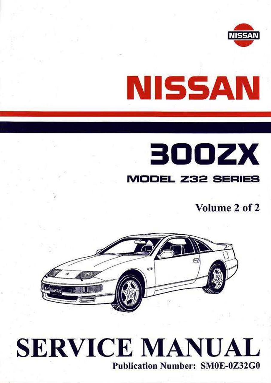 nissan 300zx model z32 series twin turbo 1990 onwards workshop manual rh automotobookshop com au 1991 Nissan 300ZX 1986 Nissan 300ZX Manual