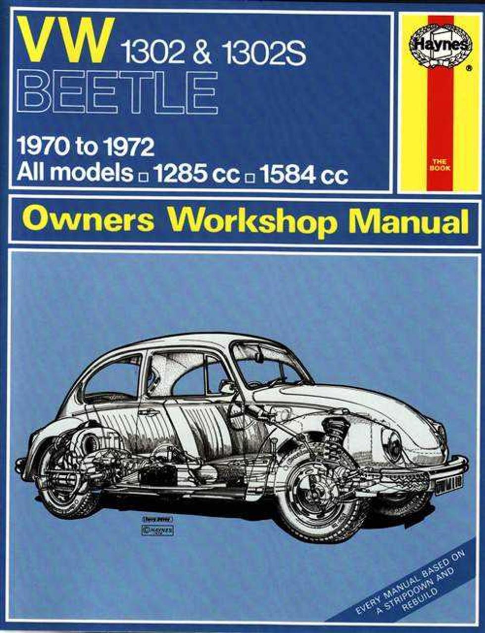 volkswagen 1302 1302s super beetle 1970 1972 workshop manual rh automotobookshop com au 1972 VW Beetle Hippy VW Beetle Repair Manual