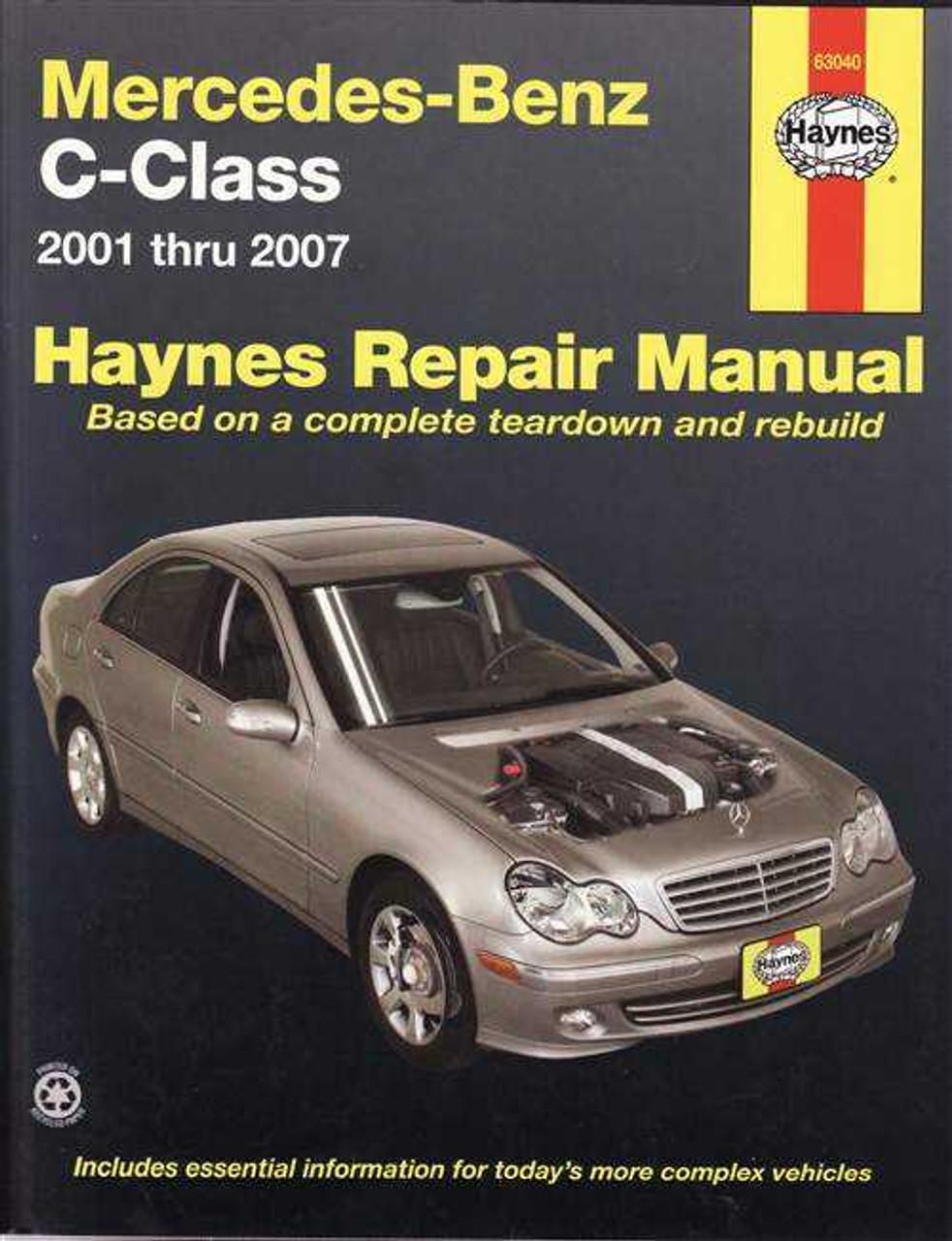 mercedes benz c class 2001 2007 workshop manual rh automotobookshop com au 2001 C240 Reliability 2001 Mercedes 240C