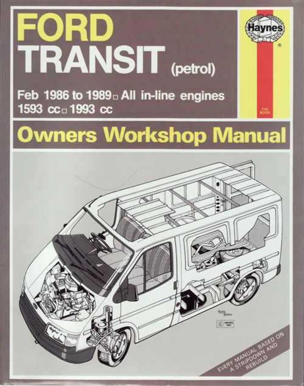 ford transit petrol mk3 1986 1989 workshop manual rh automotobookshop com au Ford Capri ford transit mk3 workshop manual pdf