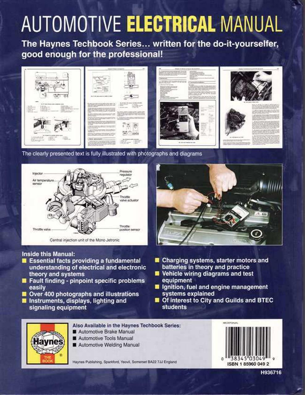 automotive electrical and electronic systems manual rh automotobookshop com au Weber Carburetor Chilton Repair Manual