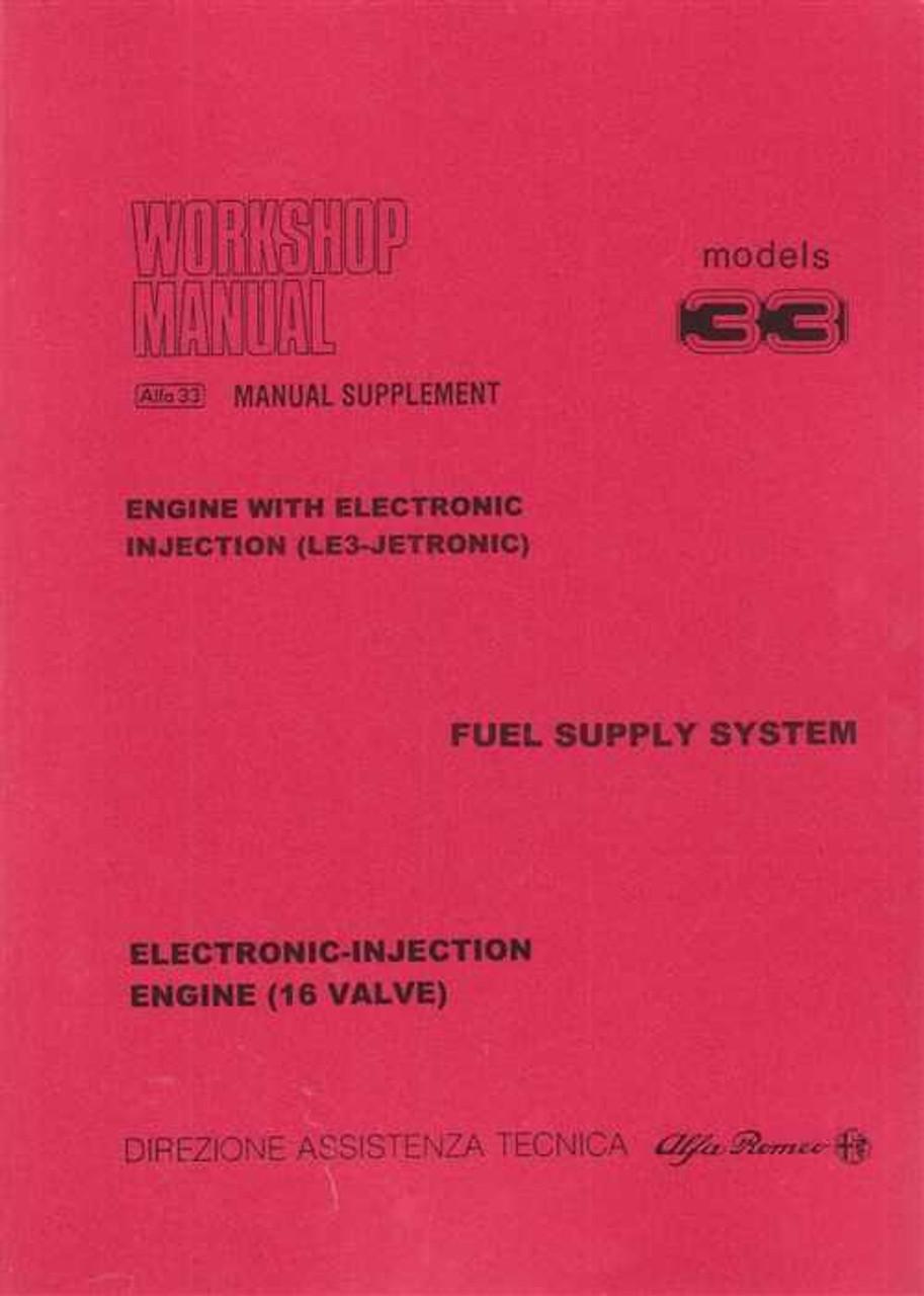 alfa romeo 33 workshop manual supplement vol 2 rh automotobookshop com au alfa 33 service manual alfa 33 16v workshop manual