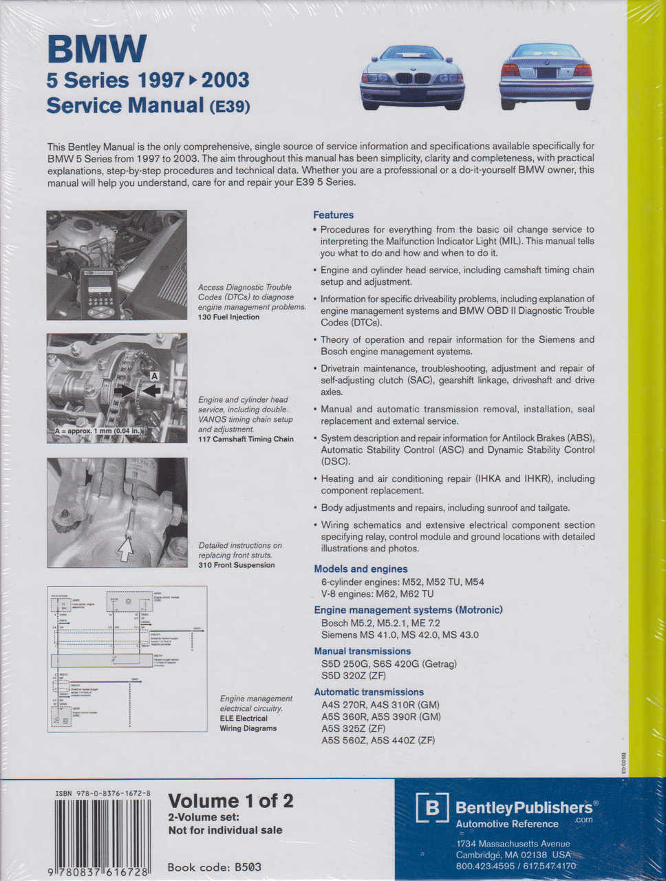 Bmw 528i Repair Manual Engine Diagram 5 Series E39 1997 2003 Workshop Rh Automotobookshop Com Au Owners 2012