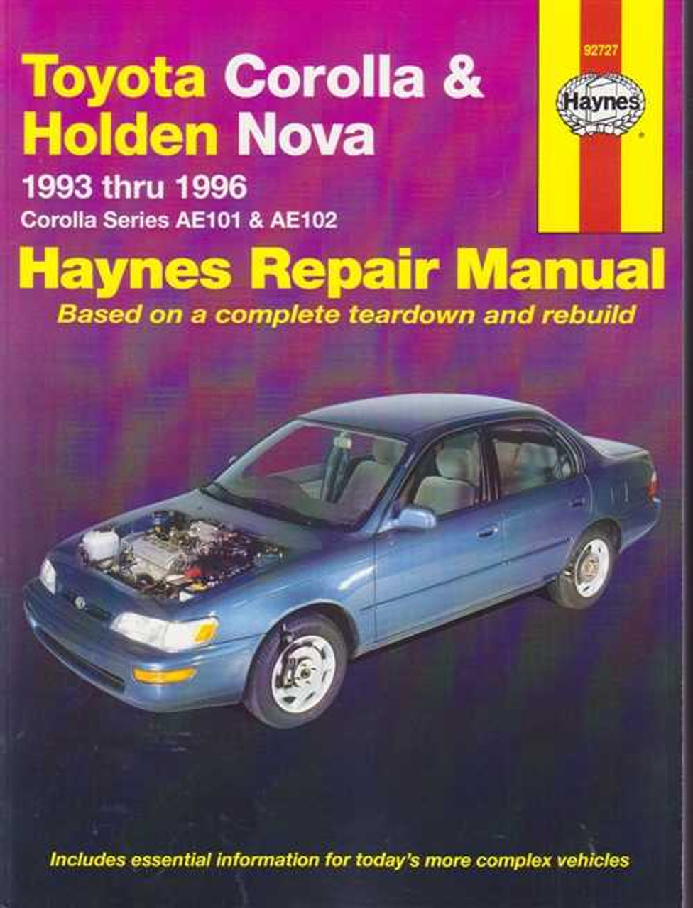 toyota corolla holden nova 1993 1996 workshop manual rh automotobookshop com au 1998 Toyota Corolla Problems 1990 Toyota Corolla DX