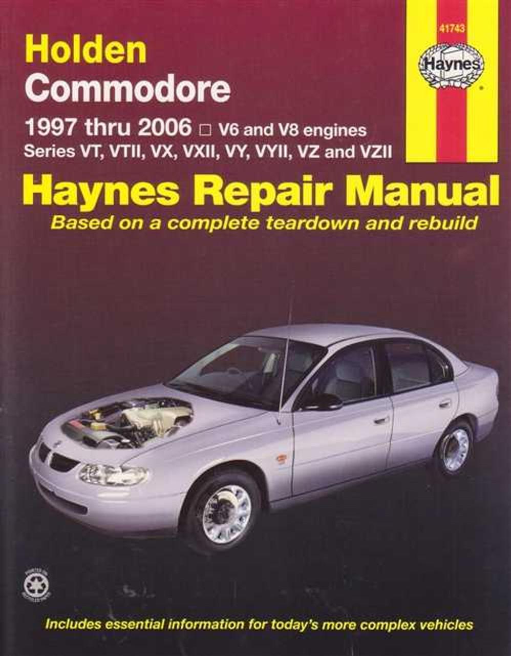 holden commodore vt vx vy vz series v6 and v8 1997 2006 rh automotobookshop com au alloytec v6 workshop manual Store Workshop Manual