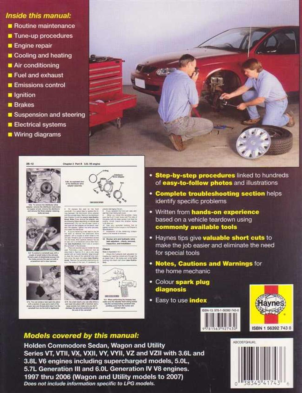 Holden commodore vt vx vy vz series v6 and v8 1997 2006 holden commodore vt vx vy vz series v6 and v8 1997 2006 workshop manual asfbconference2016 Images
