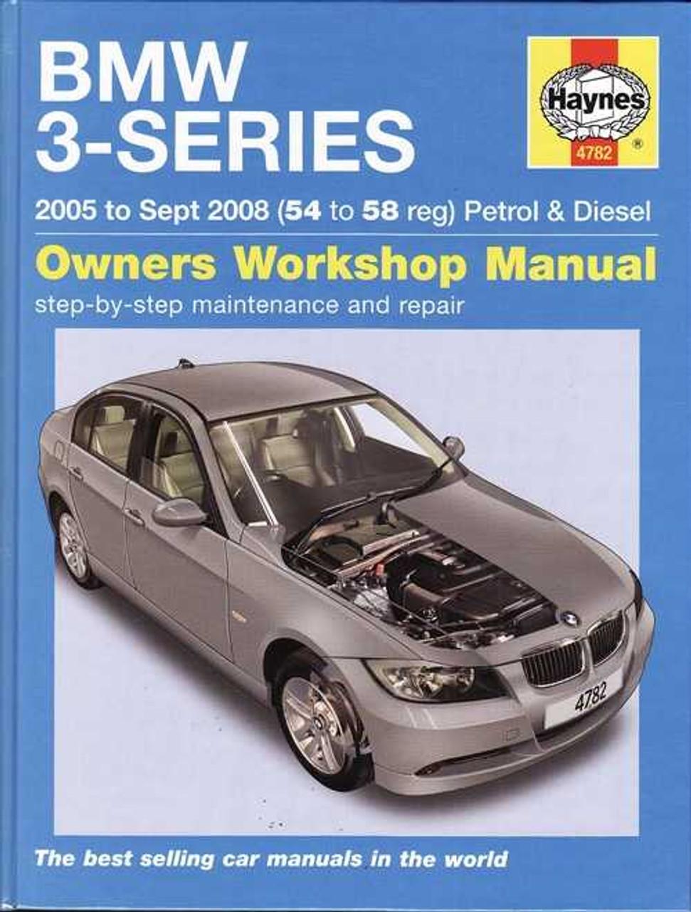 bmw 3 series e90 e91 petrol and diesel 2005 2008 workshop manual rh automotobookshop com au 2005 bmw 325xi owners manual 2005 bmw 325i user manual