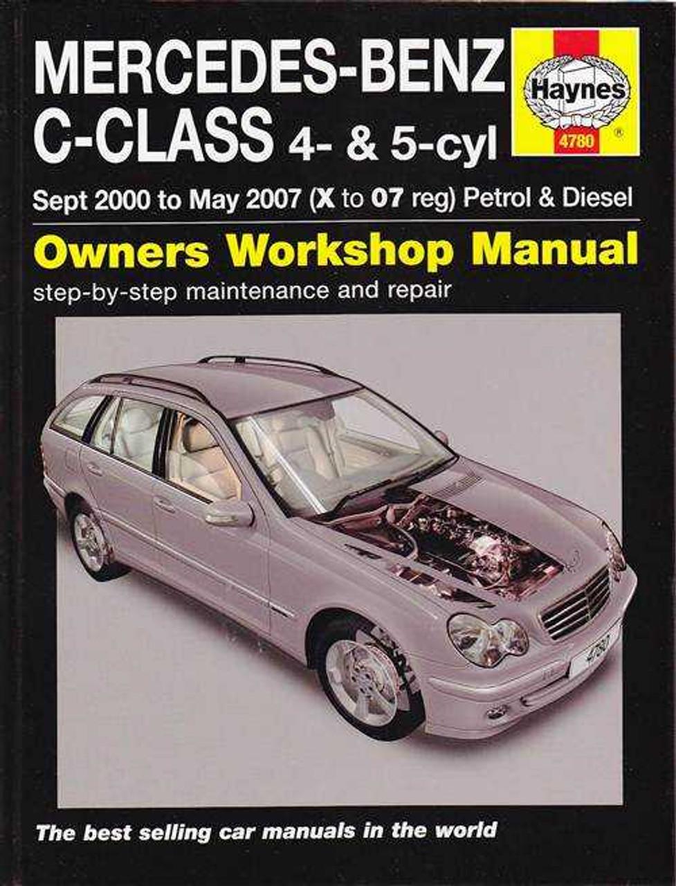 mercedes benz c class 4 5 cylinder petrol diesel 2000 2007 rh automotobookshop com au 1995 Mercedes C220 Mercedes E-Class Interior
