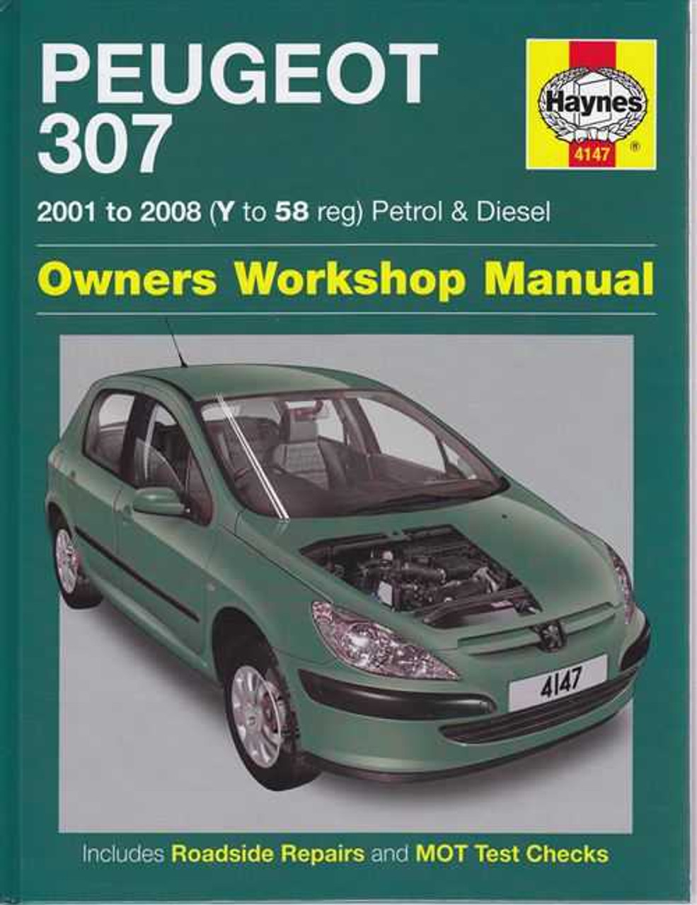peugeot 307 petrol and diesel 2001 2008 workshop manual rh automotobookshop com au