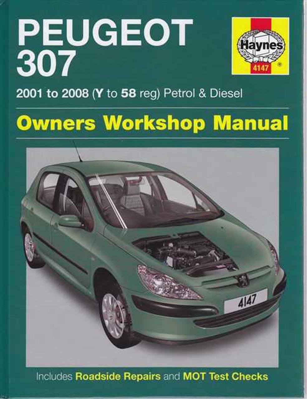 peugeot 307 petrol and diesel 2001 2008 workshop manual rh automotobookshop com au Peugeot 504 Peugeot 208
