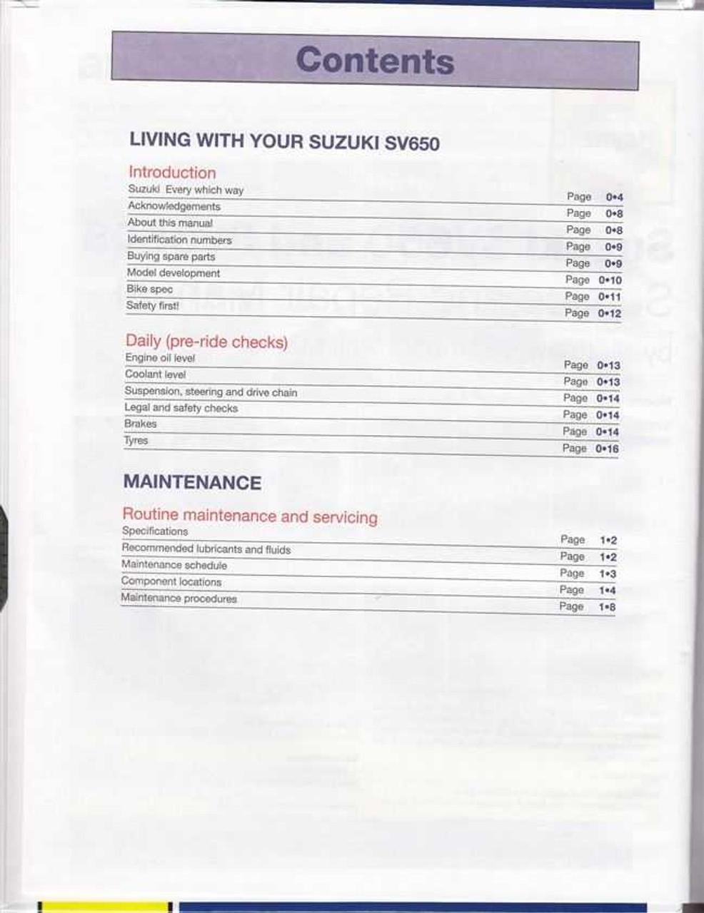 suzuki sv650 sv650s 1999 2008 workshop manual. Black Bedroom Furniture Sets. Home Design Ideas