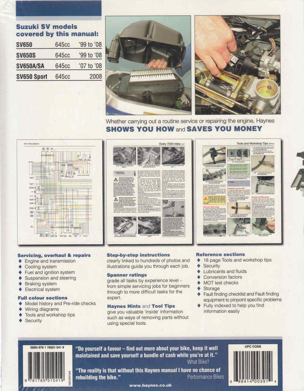 2008 Sv650 Wiring Diagram Library. Suzuki Sv650 Sv650s 1999 2008 Workshop Manual 9781785210419. Wiring. Gen 2 Sv650 Wiring Diagram At Scoala.co