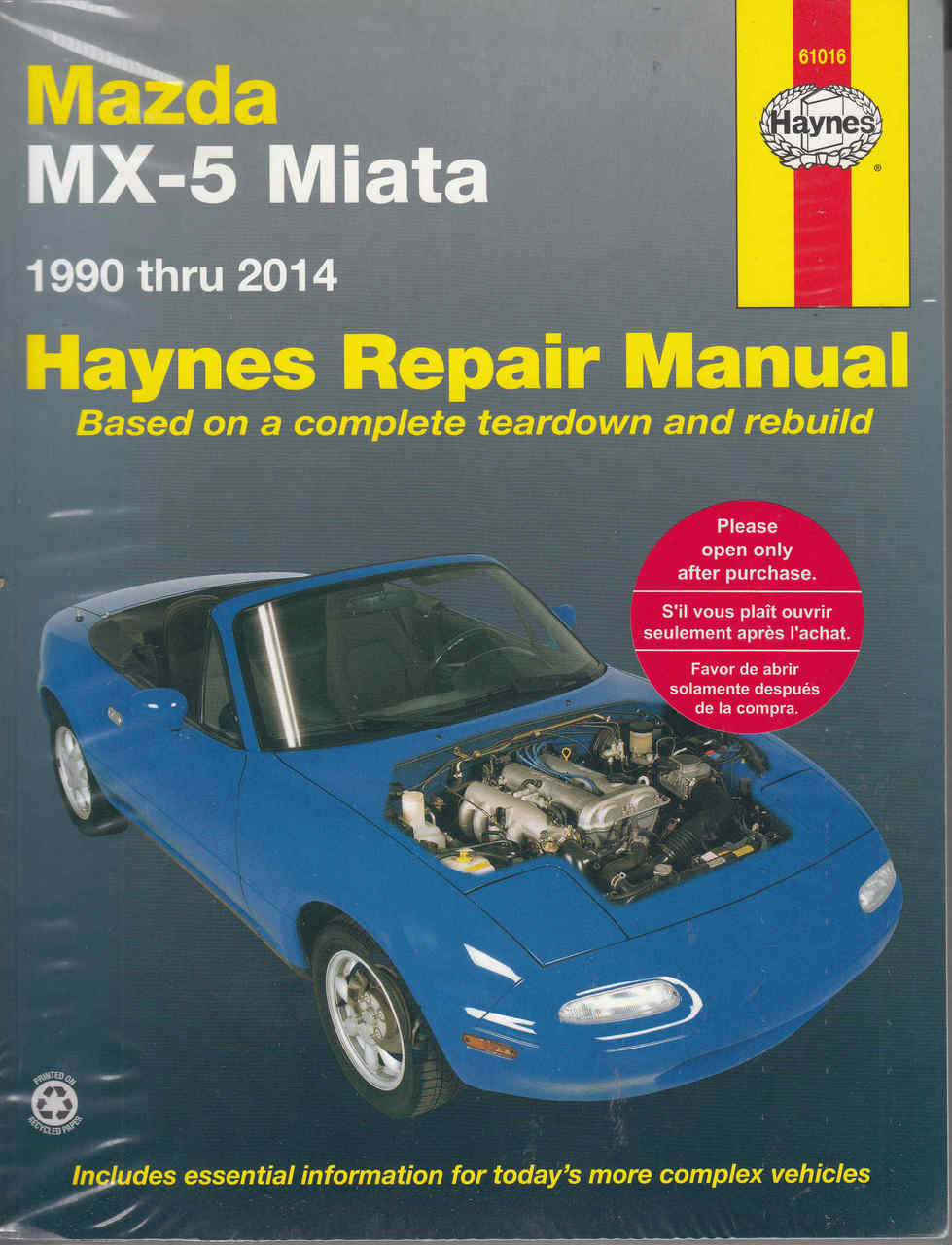 Mazda MX-5 Miata 1990 - 2009 Workshop Manual ...