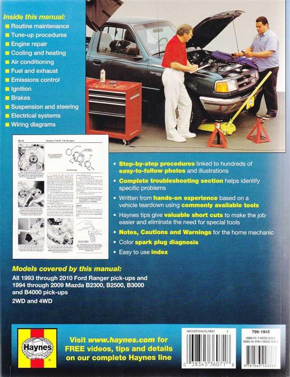 Ford Ranger, Mazda B2300, B2500, B3000, B4000 1993 - 2010 Workshop ...