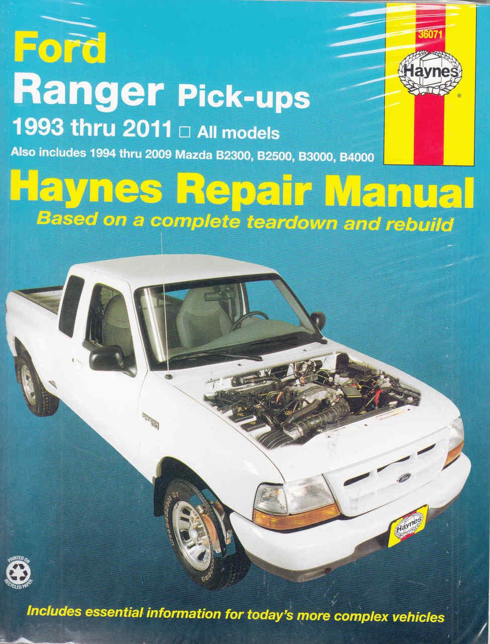 Ford Ranger  Mazda B2300  B2500  B3000  B4000 1993
