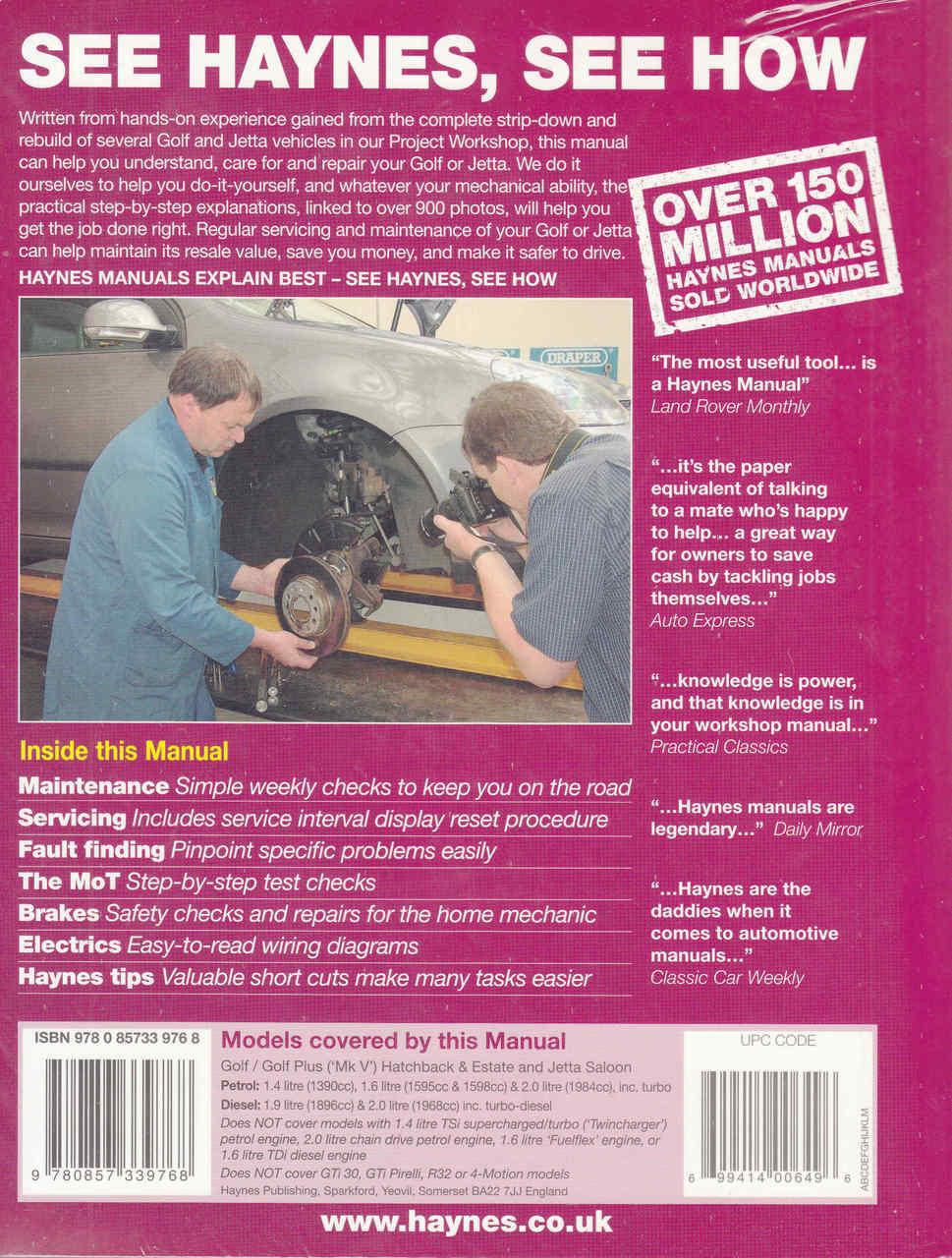 Volkswagen Golf Mk V Plus And Jetta Petrol Diesel 2004 2009 Wiring Diagram Workshop Manual
