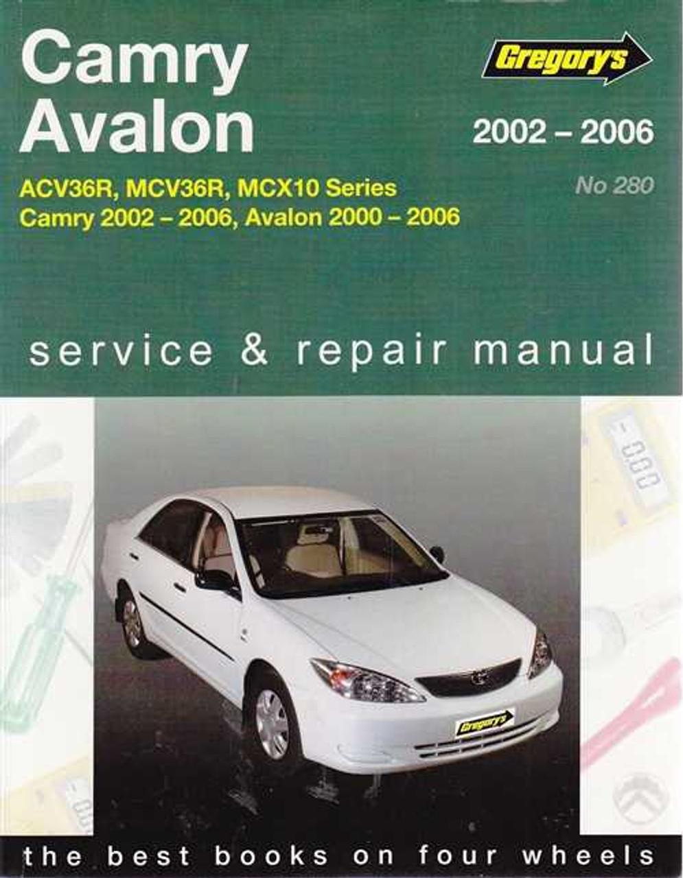 toyota camry avalon acv36r mcv36r mcx10 series 2000 2006 rh automotobookshop com au 2002 Toyota Camry Le owners manual toyota camry 2002