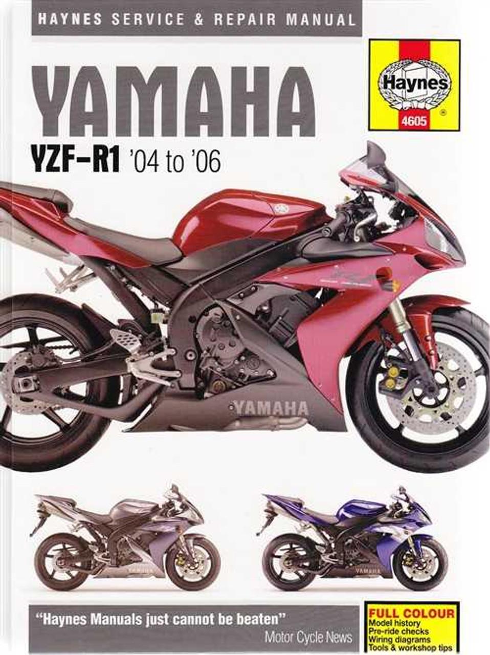 yamaha yzf r1 2004 2006 workshop manual rh automotobookshop com au 2003 R1 Top Speed Yamaha YZF- R125